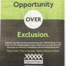 Opportunity over Exclusion