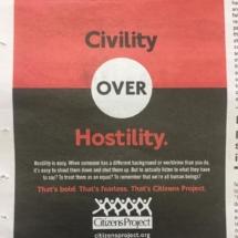 Civility over Hostility